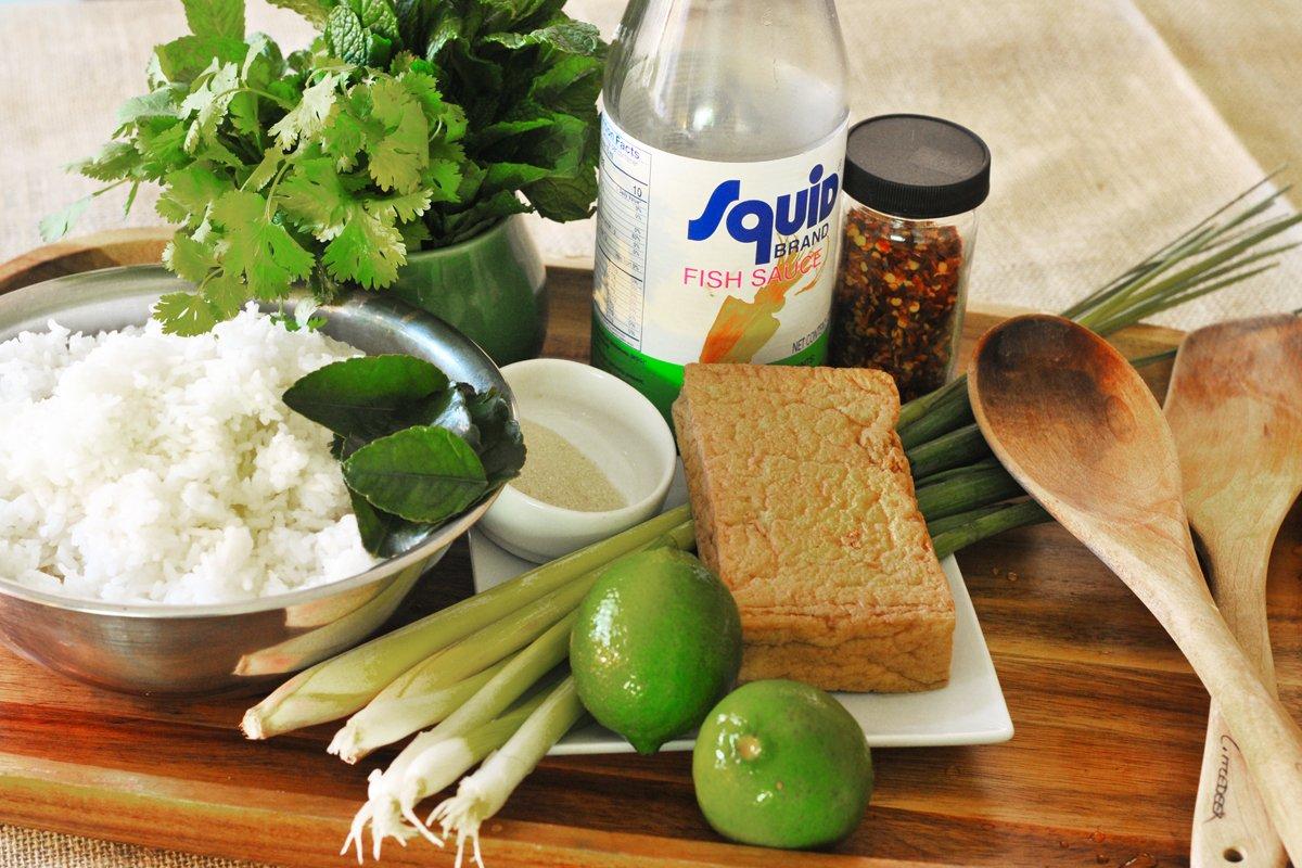 lemongrass rice salad ingredients