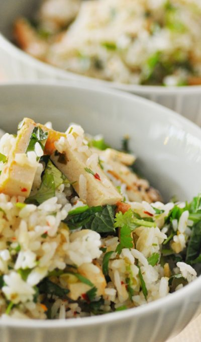 Lemongrass Tofu Rice Salad