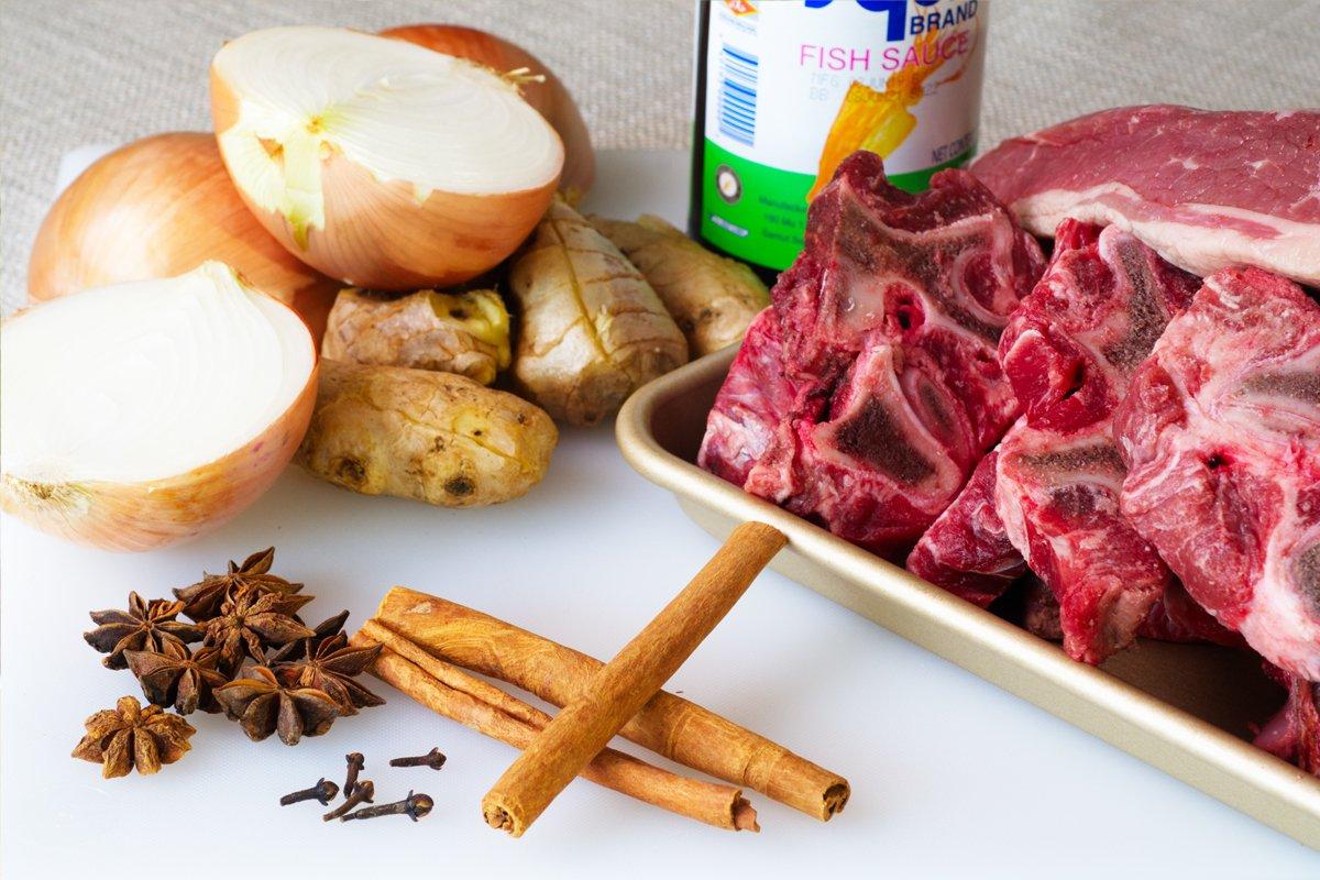 Pho ingredients