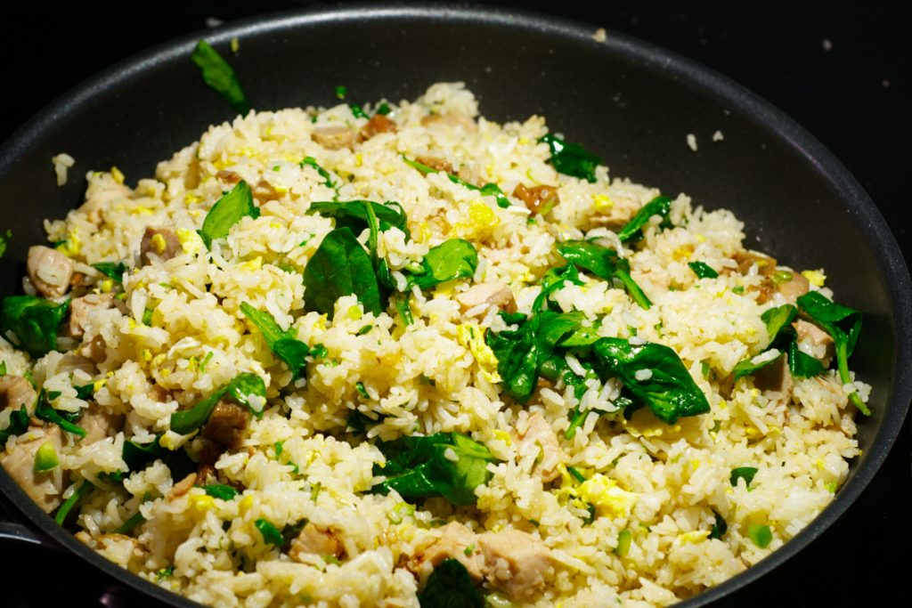 cooked fried rice