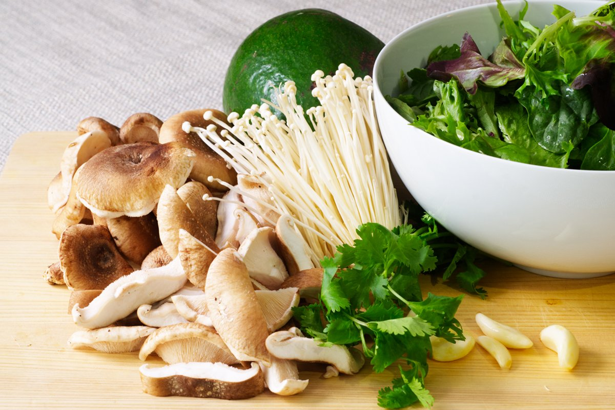 wild mushroom salad ingredients