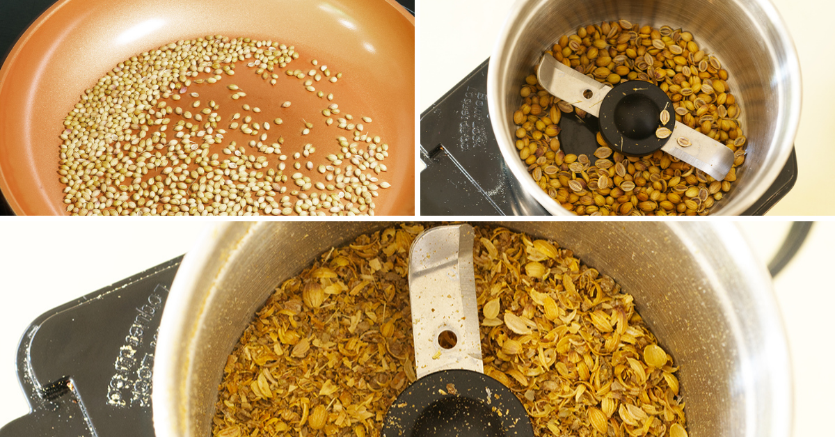 coriander for Asian spice paste