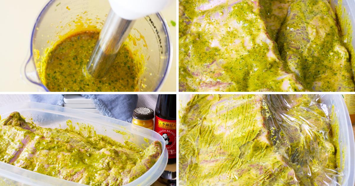 marinating asian spice spare ribs