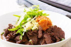 Beef Tataki with garnishes