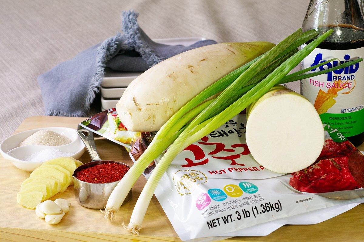 radish kimchi ingredients