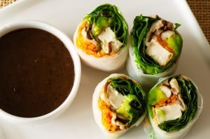 Vegetarian Spring Rolls with tofu