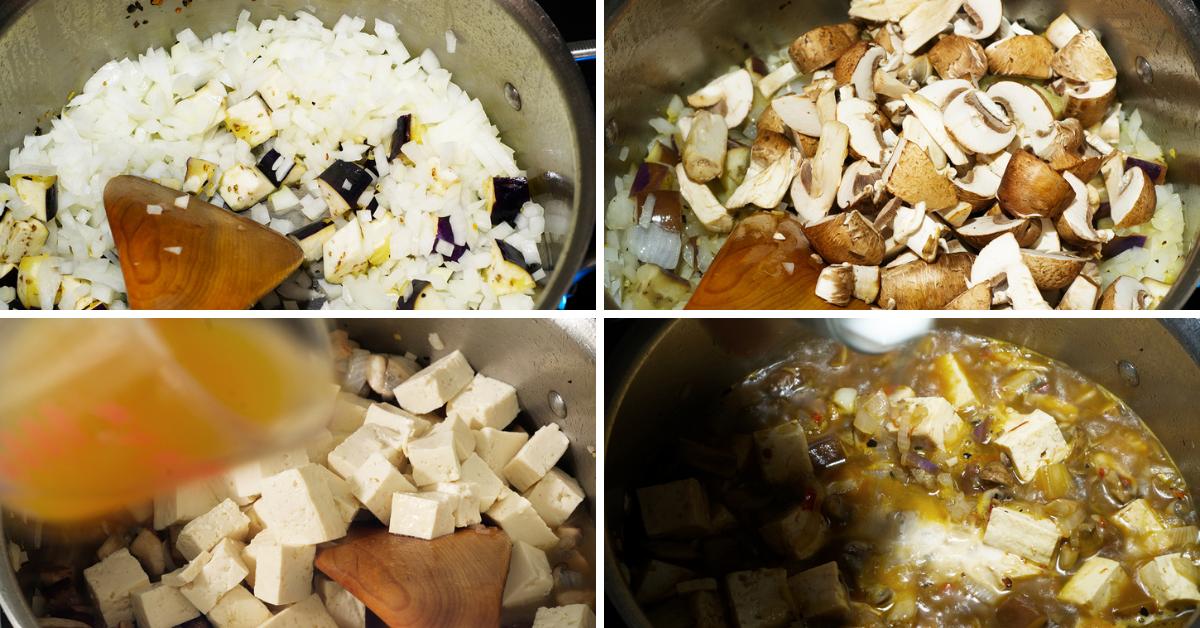 mapo tofu cooking