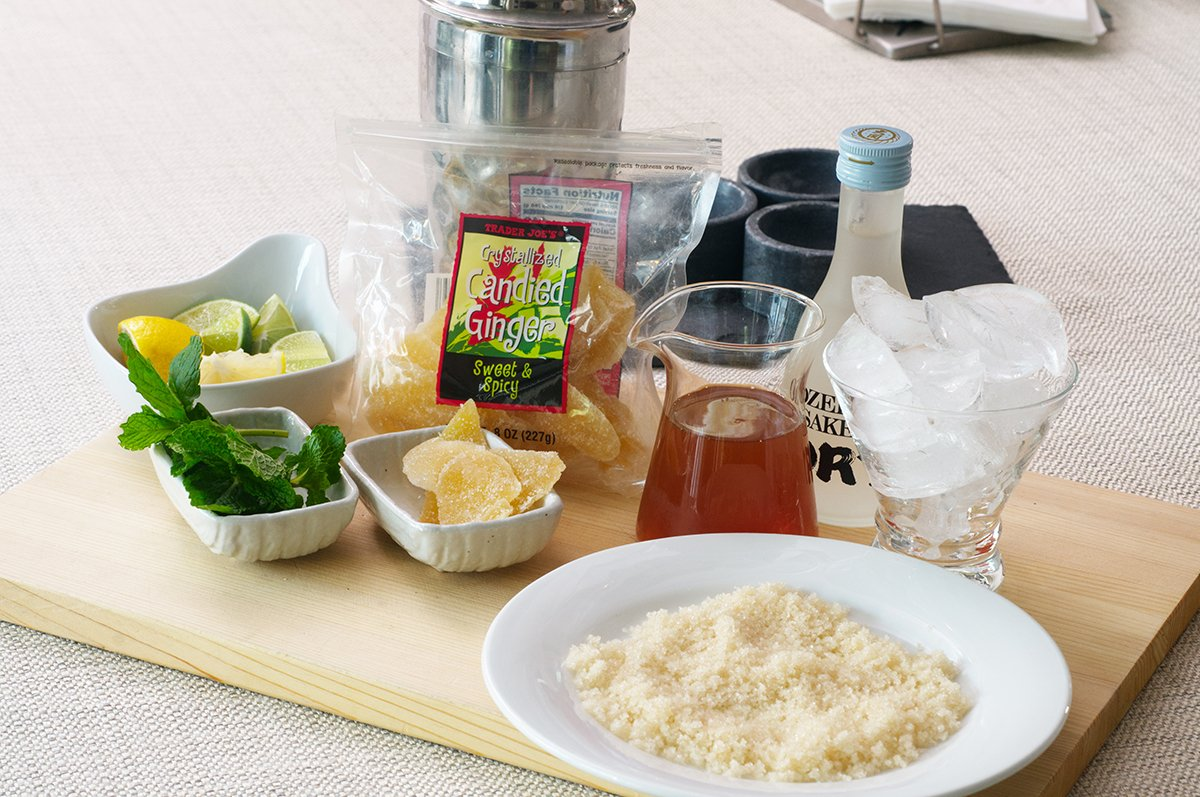ginger saketinis ingredients