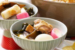 japanese oden stew closeup