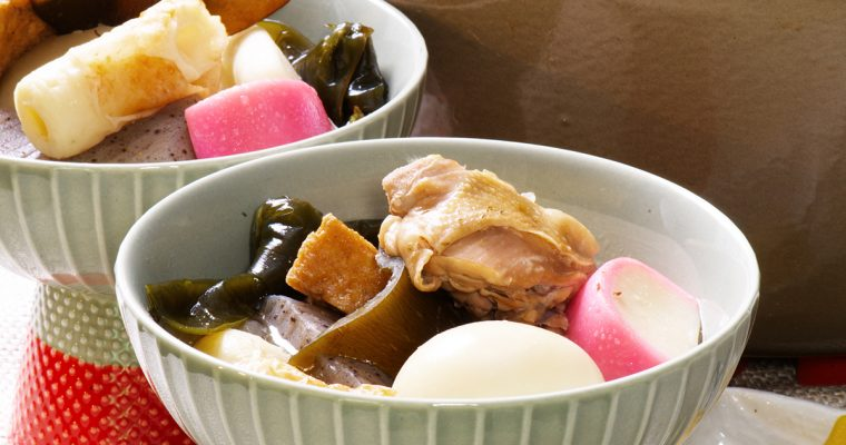 japanese oden stew closeup