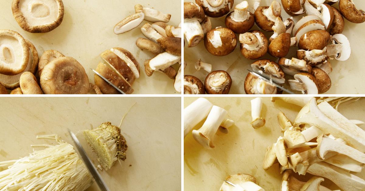 mushrooms for japchae noodles