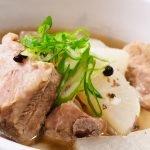 pork rib radish soup recipe card