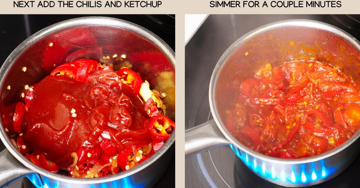 homemade sriracha chilis