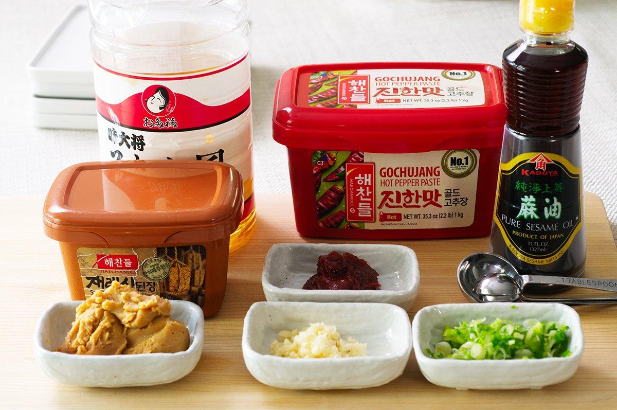 ssamjang sauce ingredients for korean short rib ssam