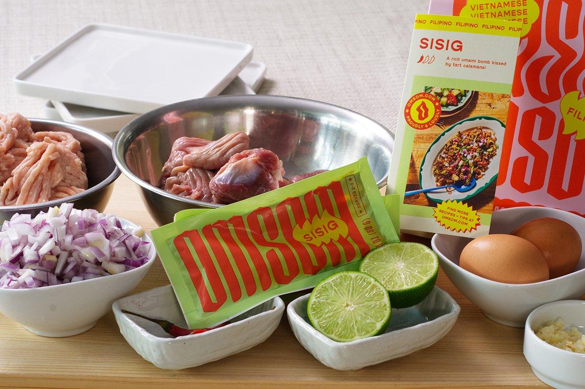 sisig ingredients