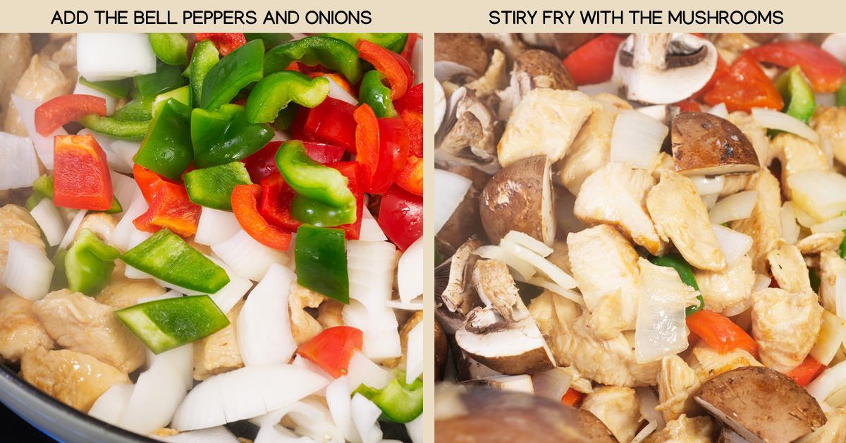thai basil chicken stir fry veggies