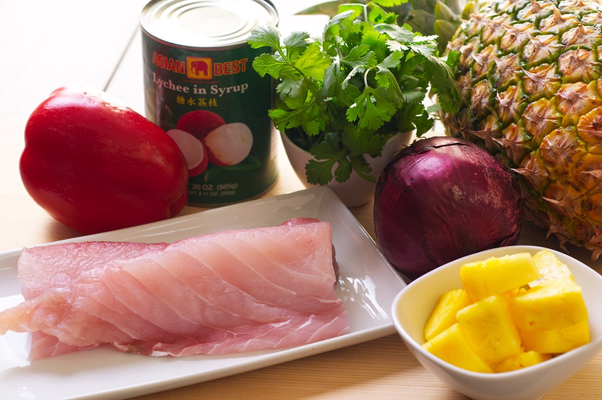 tropical ceviche ingredients