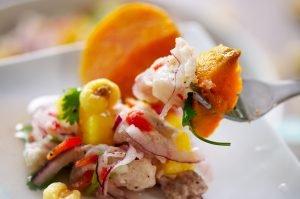 tropical fruit ceviche feature