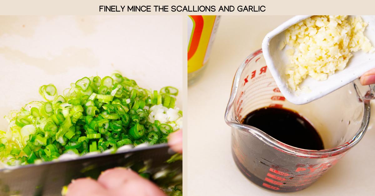 spicy tofu scallions