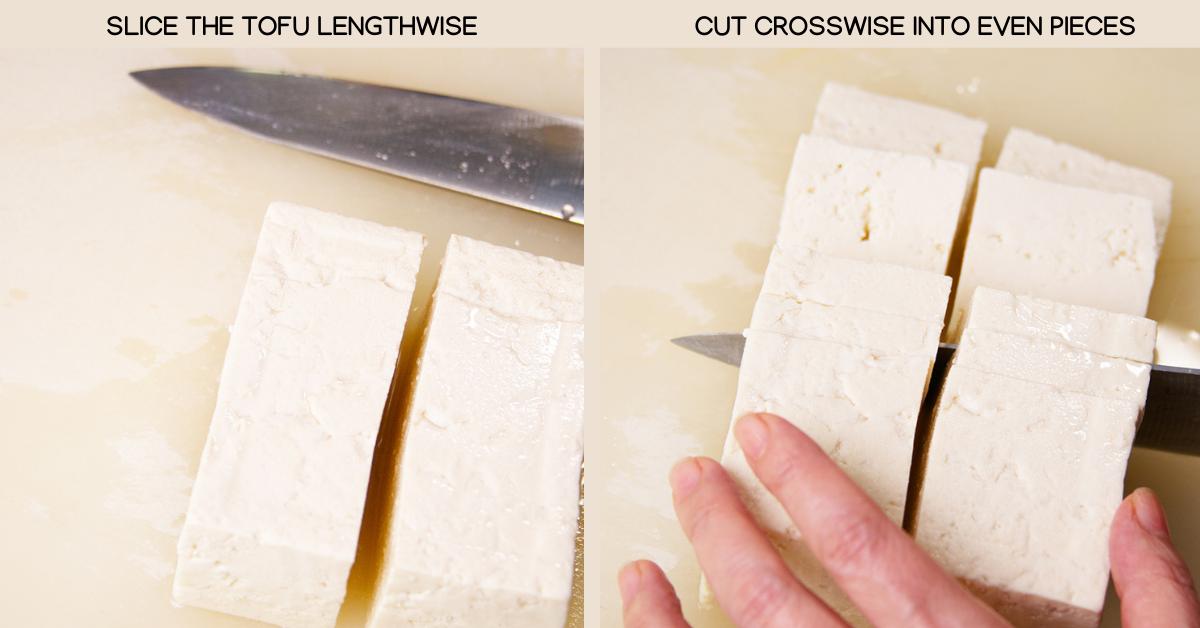 spicy tofu slicing