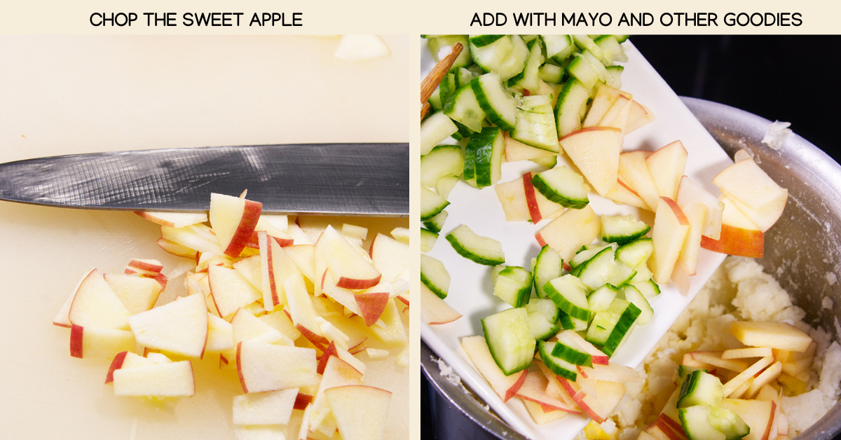 japanese potato salad apple